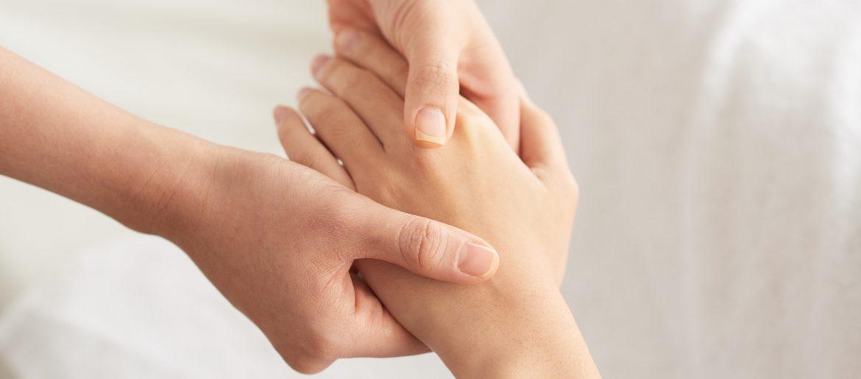 Relaxing hand massage